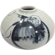 Japanese Vase with Hand Painted Scene