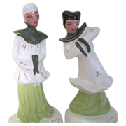 Pair of Oriental Figurines c1950