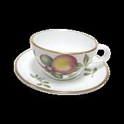 """Miniature Spode cup & Saucer Set """"Blenheim"""" Peach"""