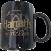 Harrah's Black Coffee Cup 50th Anniversary 1987
