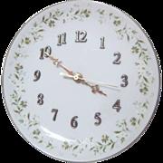 Lefton Porcelain Wall Clock by Suzuki