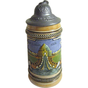 1904 St Louis World's Fair Beer Stein from Germany