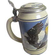 Budweiser Bald Eagle Beer Tankard from the Endangered Species Series
