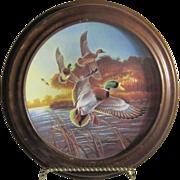 Mallards at Sunrise 1988 Ducks Unlimited Framed Plate