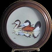 The Ruddy Ducks Federal Duck Stamp Framed Porcelain Plate