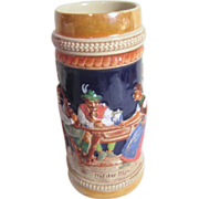 German Beer Stein with Colorful Picture