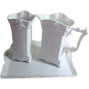 Set of 3 White Porcelain Gerald Porzellan Bavaria