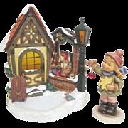 Hummel Bavarian Christmas Market Music Box with Young Girl