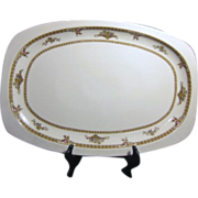 "18"" Platter by Epiag of Czechoslovakia Cream Color with Detailed Border"