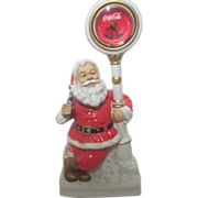 Melody in Motion Standing Christmas Santa with Coca Cola Clock and Bottle