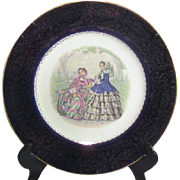 Imperial Charger/Cabinet Plate by Salem 2 Ladies in Godey's Fashion