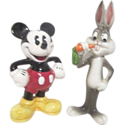 Mickey Mouse and Bugs Bunny Porcelain Characters