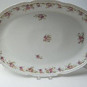 Beautiful Large Antique French Limoges Porcelain Platter