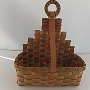 Wonderful Vintage Miniature Maine Indian Wall Basket