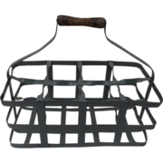 Unique French metal 8 bottle wine caddy, c. 1920's