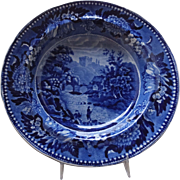 Superb Dark Blue W. Adams Soup, c. early 19th C.