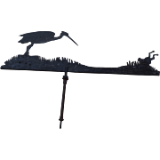 Unique Weathervane, Heron and Frog Motif, early 19th C.