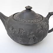 Antique Wedgwood Black Basalt teapot, circa 1759 - 1859