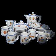 Delightful Happifats (Rudolstadt) child's 23 piece tea or coffee set, c. 1914-20's