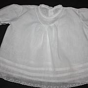 SOLD White Linen Toddler Dress 1940s