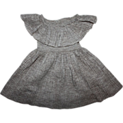Pinch Pleated Dress for Large Walkers 1950s