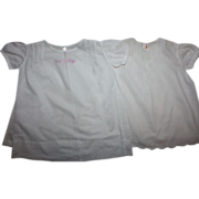 SOLD Two White Baby Dresses with Slips 1930s