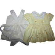 SOLD Two Dresses for Small Playpals 1950s
