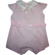 SOLD Pink Child's Romper 1930s Unused