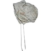 SOLD Antique Silk Bonnet for Composition or Bisque 1910