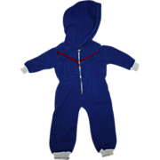 SOLD Royal Blue Hooded Snowsuit for 18 inch Hard Plastic or Composition 1940s