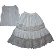 SOLD Antique Chemise and Slip for German or French Bisque