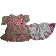 SOLD Satin and Lace Dress for Composition Dolls 1930s