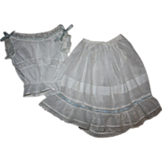 SOLD Antique Chemise and Slip for German and French Bisque Dolls