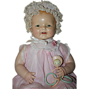 "SOLD Original Composition 22 inch Horsman ""Dimples"" Doll Near Mint 1928"