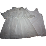 SOLD Antique White Lawn Dress and Slip 1910