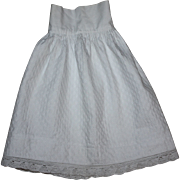 SOLD Antique White Slip for French or German Bisque Dolls 1890