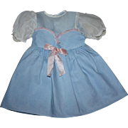 Pique and Organdy Doll Dress for Large Baby Dolls 1950s