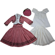 SOLD Gorgeous Six Piece Doll Outfit for Parian or China Head Dolls