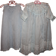 SOLD White Baby Gown and Slip Early 1900s