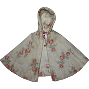 Lovely Floral Eiderdown Cape 1940