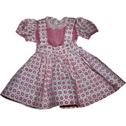 SOLD Pink and White Dress for Hard Plastic Dolls 1950s