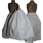 SOLD Three Antique Doll Slips for German or French Bisque Dolls