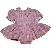 SOLD Darling Factory Pink and White Smocked Dress 1950s