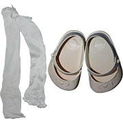 """Original Ideal Shoes and Rayon Socks for 22"""" Saucy Walker"""