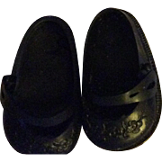 SALE PENDING HTF Black Embossed Ideal Shoes and Socks 1950s