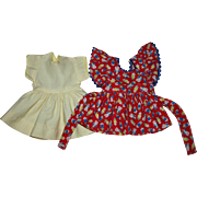 Dress and Pinafore for Hard Plastic Dolls 1950s