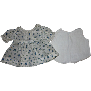 Dimity Dress and Onesie for Composition Dolls 1930s
