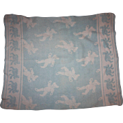 Blue and White Bear Blanket for Baby Dolls 1940