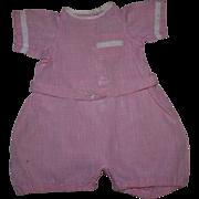 Drop-Drawer Pink Gingham Romper 1920