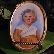 Large and Beautiful Hand Painted Porcelain - Scandinavian Girl